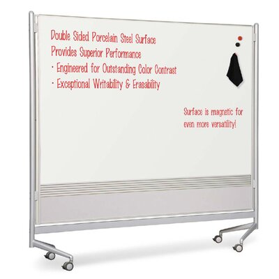 "Balt Mobile Partitions, Porcelain, 76""x12""x74"", White"