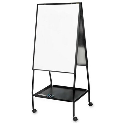 "Balt Double-Sided Magnetic Easel, 28-3/4""x27""x59-1/2"", Black Frame"