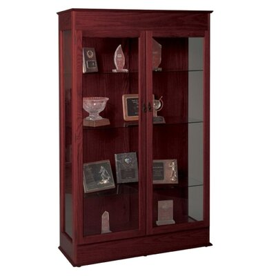 "Balt Wood Display Cases, Locking Glass Doors, 48""x18""x77"", Mahogany"