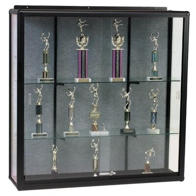 "Balt Display Cases, Wall Mount, 48""x16""x48"", Oak"