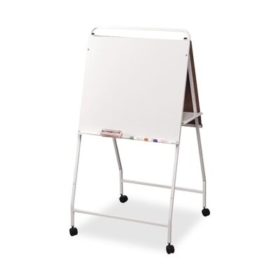 "Balt Eco Easel w/Wheels,Double-sided,29-3/4""x28-3/4""x58"",WE Frame"