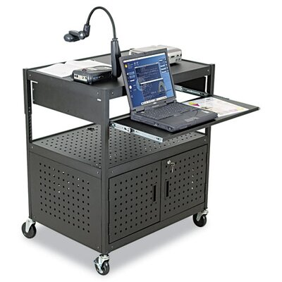 Balt Height-Adjustable Steel FDB AV Cart in Black