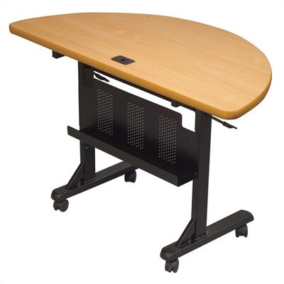 Balt l48&quot; W Half-Round Flipper Table