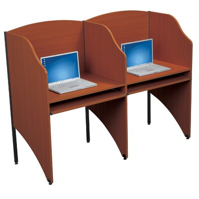 Balt Add-A-Carrel Cherry Laminate Study Carrel Desk