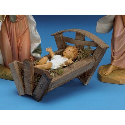 Jesus With Crib Figurine
