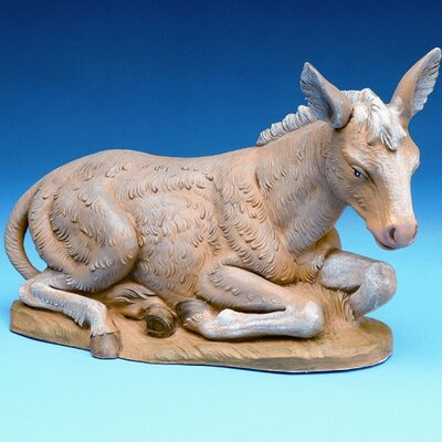 "Fontanini 12"" Scale Seated Donkey Nativity"