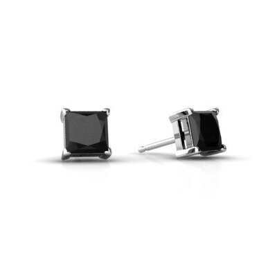 Moise Princess Cut Cubic Zirconia Stud Post Earring