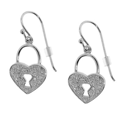 Heart Pad Locket Earring
