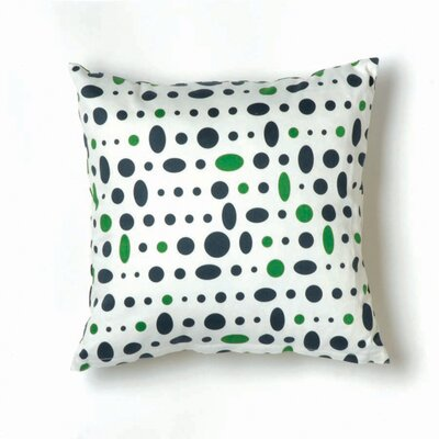 Twinkle Living Cosmic Small Pillow in Navy, Green and White