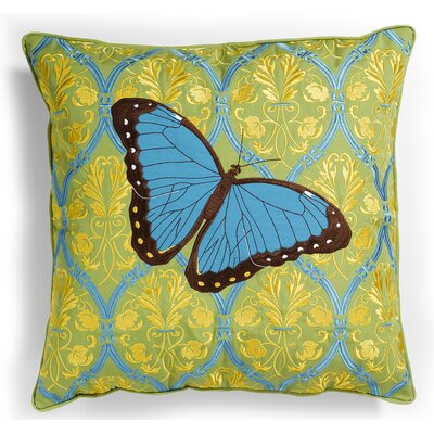 I Sea Life Outdoor Sunbrella Embroidered Butterfly Pillow