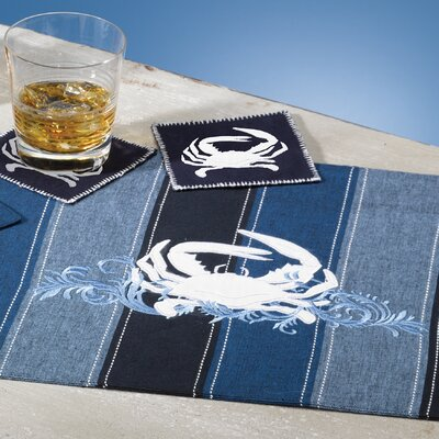Rightside Design I Sea Life® Embroidered Crab Placemats