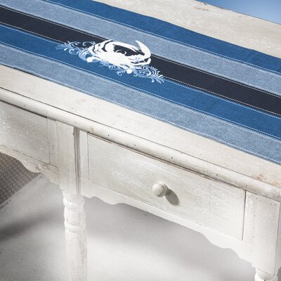 Rightside Design I Sea Life Crab Table Runner