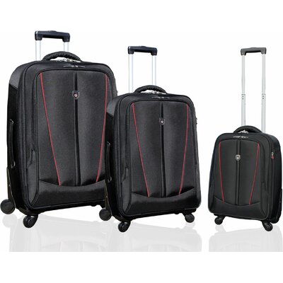 "Travelers Polo & Racquet Club Silhouette ""Heavy-Duty"" 3 Piece Luggage Set"