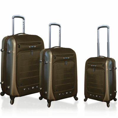 Ford Ford Flex Series 3 Piece Expandable Hybrid Luggage Set