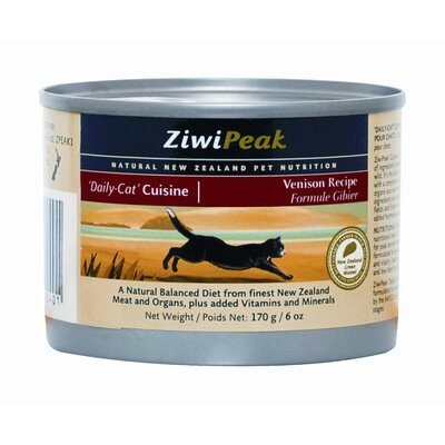 ZiwiPeak Canned Venison Wet Cat Food (6-oz, case of 12)