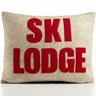 Ski Lodge Decorative Pillow