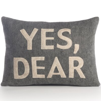 "Alexandra Ferguson ""Yes, Dear"" Pillow"