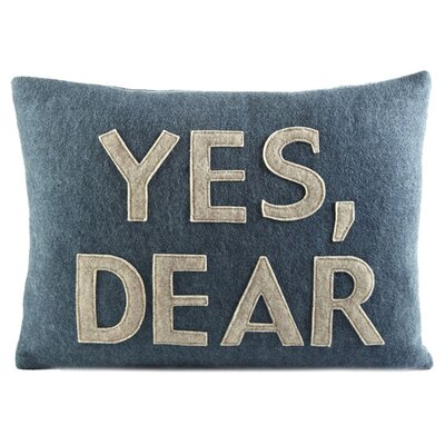Alexandra Ferguson House Rules Yes, Dear Decorative Pillow