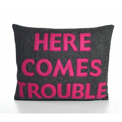 Alexandra Ferguson House Rules Here Comes Trouble Decorative Pillow