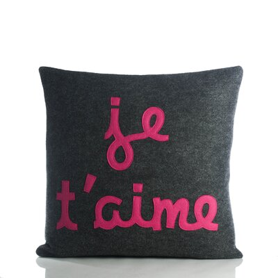 "Alexandra Ferguson It Starts with a Kiss ""Je T'Aime"" Decorative Pillow"