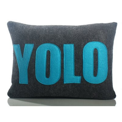 "Alexandra Ferguson Modern Lexicon ""YOLO"" Decorative Pillow"