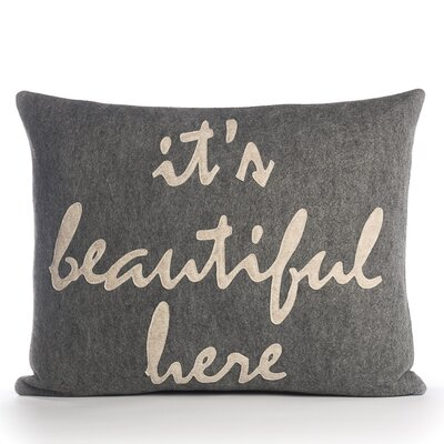 "Alexandra Ferguson ""It's Beautiful Here"" Pillow"