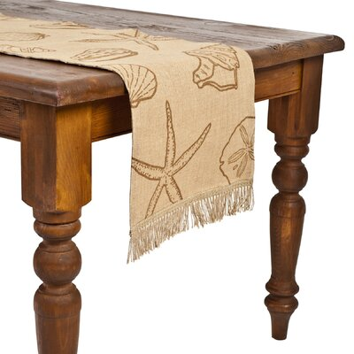 Ecoaccents Shell Burlap Table Runner