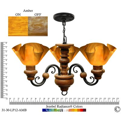 Radiance 3 Light Floral Vineyard Chandelier