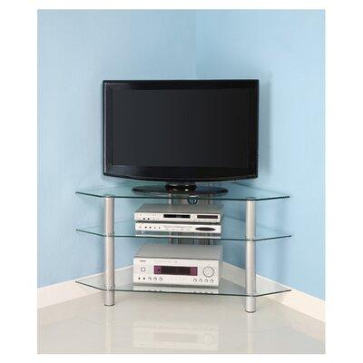 "Home Loft Concept 44"" Glass Corner TV Stand"