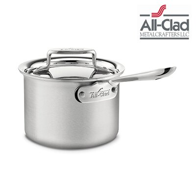 All-Clad Brushed Stainless Steel Saucepan