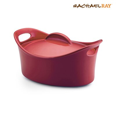 Rachael Ray Bubble and Brown 4.25 Qt. Stoneware Casserole