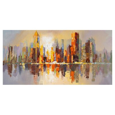 Moe's Home Collection City Life Painting Print on Canvas
