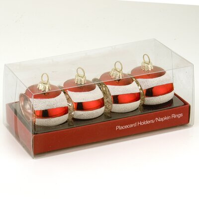 October Hill Striped Ornament and Napkin Holder