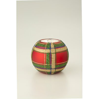 October Hill Plaid Tealight Holder