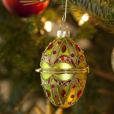 Horizons East Faberge Style Opening Egg Ornament