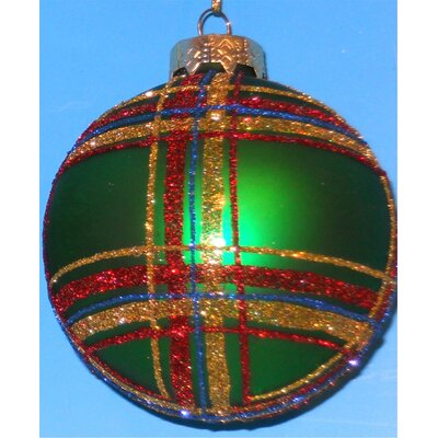 Horizons East Plaid Ball Ornaments (Box of 4)