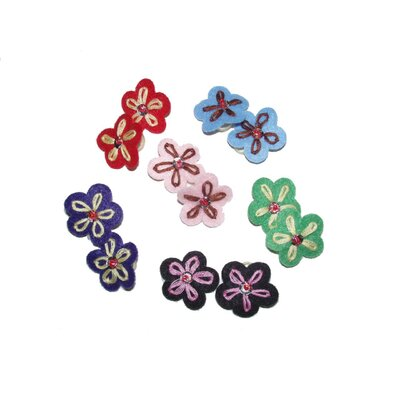 A Pet's World Felt Flower Dog Grooming Bands (12 Pieces)