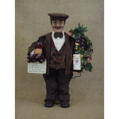 Karen Didion Originals Classic Home Lighted Wine Sommelier Figurine