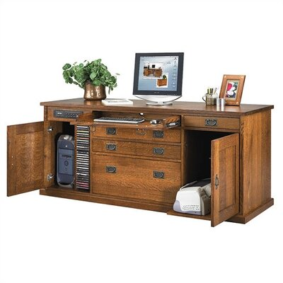 "Anthony Lauren Craftsman Home Office 72"" W Office Credenza"