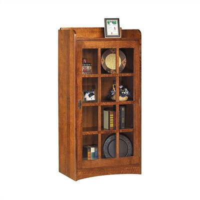 "Anthony Lauren 62"" H Glass Door Bookcase with Right Hinge"