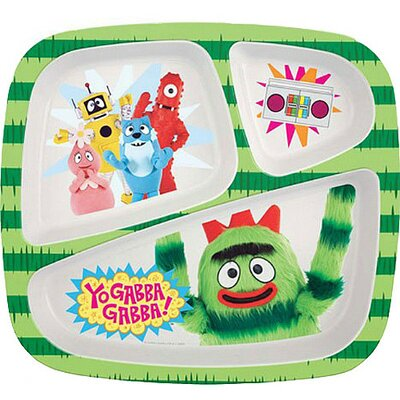 Nickelodeon Yo Gabba Gabba 3 Section Plate