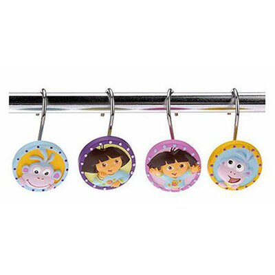 Franco Manufacturing Nickelodeon Dora the Explorer Shower Curtain Hooks