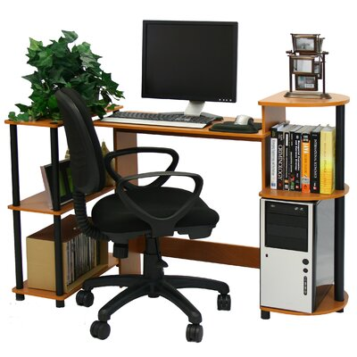 Furinno Compact Computer Standard Desk Office Suite with Optional Task Chair
