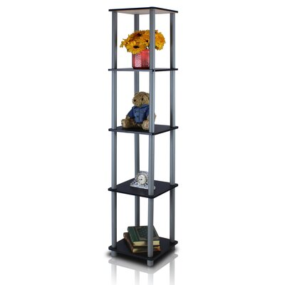 Furinno 5 Tier Corner Square Rack Display Shelf