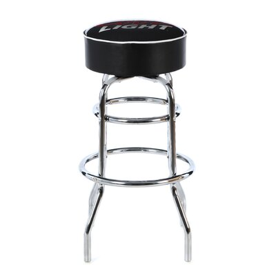 Trademark Global Coors Light Padded Bar Stool