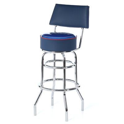 <strong>Trademark Global</strong> Bud Light Blue Padded Bar Stool with Cushion