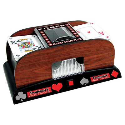 Trademark Global Trademark Poker Wooden Card Shuffler