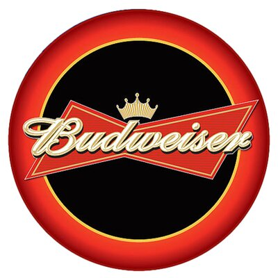 "Trademark Global Budweiser 30"" Bowtie Bar Stool with Cushion"