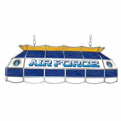 U.S. Air Force Stained Glass Pool Table Light