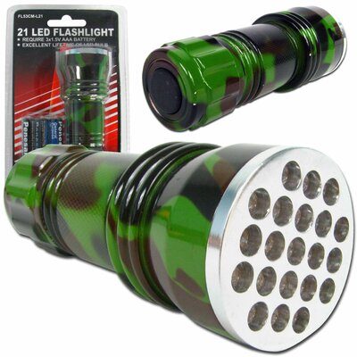 Trademark Global 21 LED Camo Color Flashlight